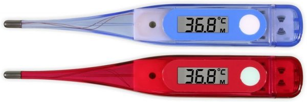 Digital Thermometer in blue and red