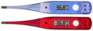 Digitales Fieberthermometer blau und rot