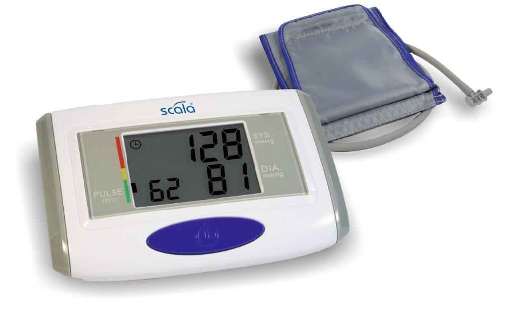 Oberarm-Blutdruckmessgerät mit Manschette