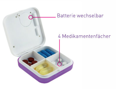 elektronische Tablettendose
